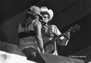 Willie Nelson & Earnest Tubb, 1980 Willie Nelson 4th of July Picnic, photo by Martha Hannah, 72 dpi